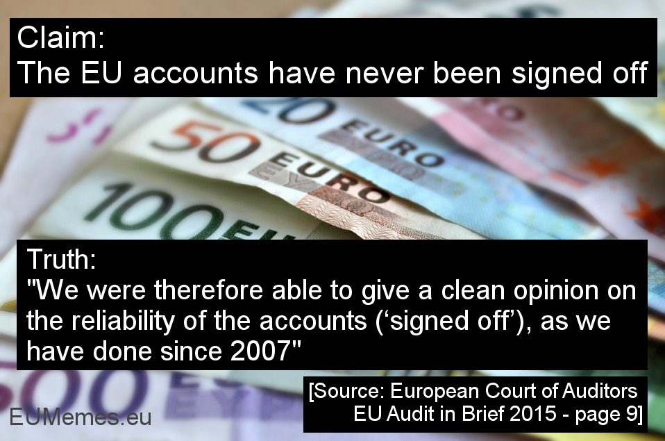Testimonial 2e EU's annual accounts have been successfully signed off for years