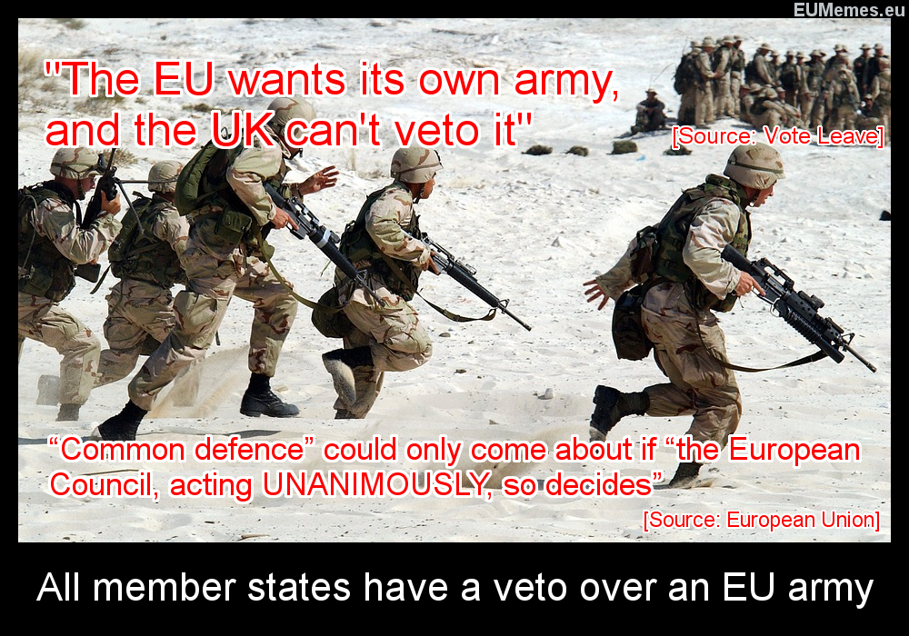 The UK does have a veto over an EU army