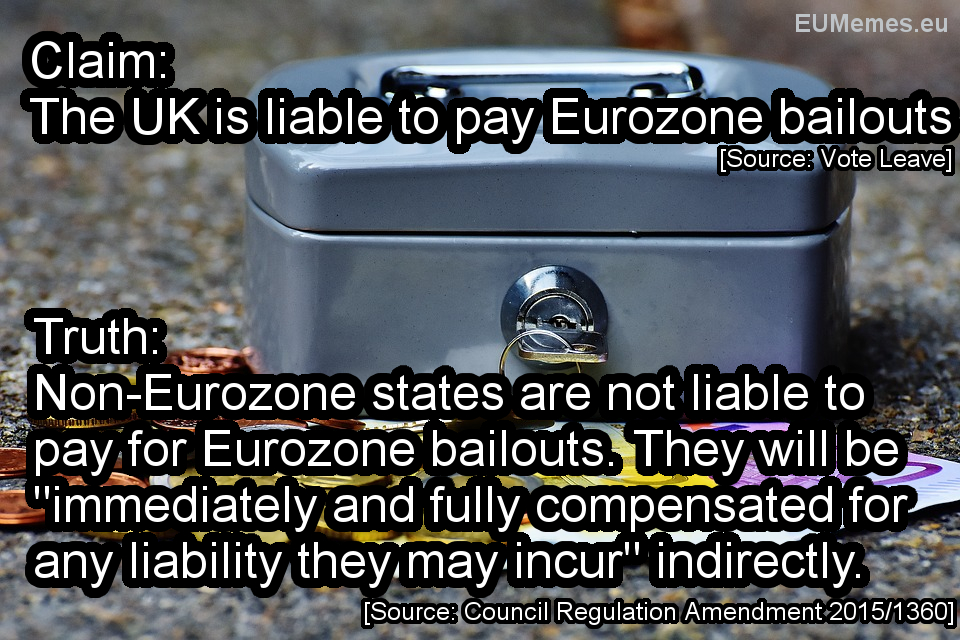 The UK is NOT liable to pay eurozone bailouts