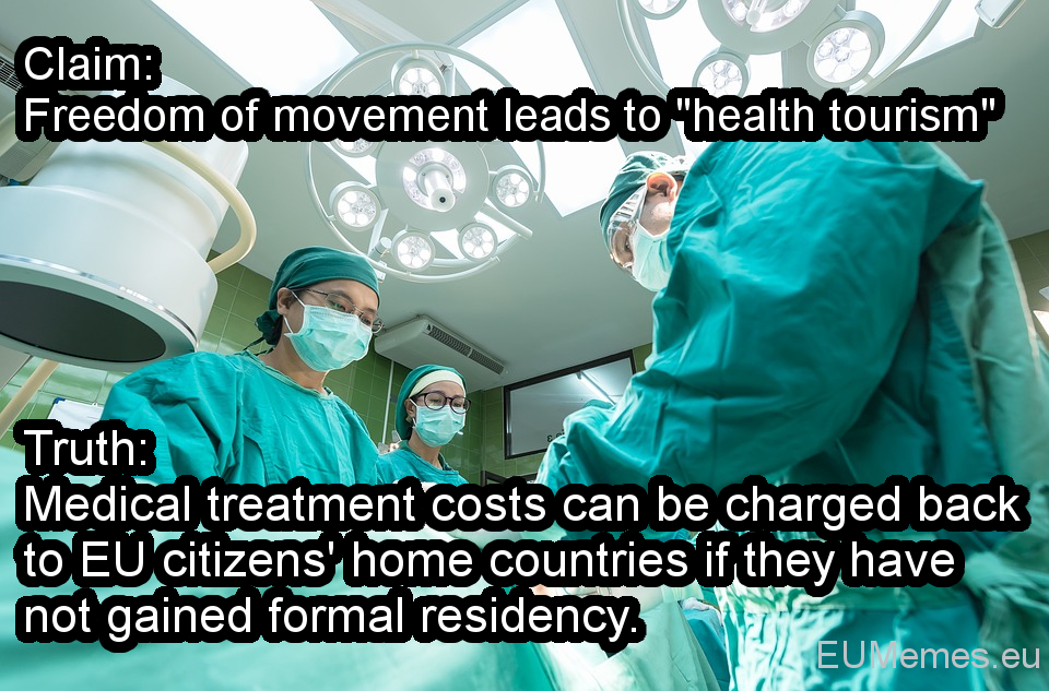 Medical treatment costs can be charged back to EU citizens' home countries