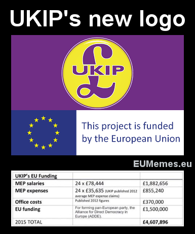 UKIP is actually one of the many projects funded almost entirely by the EU.